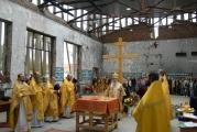 В стенах спортзала школы № 1 г. Беслана впервые совершена Божественная литургия