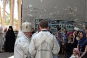 В стенах спортзала школы № 1 г. Беслана совершена архиерейская Божественная литургия