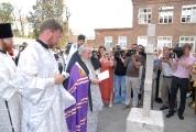 Возведение и освящение креста на месте будущего храма_1