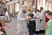 Епископ Леонид возглавил Божественную литургию в стенах школы №1 г. Беслана в 12-ю годовщину террористического акта