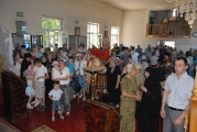 Божественная литургия в Свято-Варваринском храме подворья