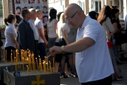 Архиепископ Зосима возглавил заупокойную литию в бесланской школе № 1