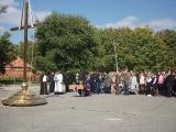 Архиепископ Зосима освятил крест возводимого храма во имя Новомучеников и исповедников российских в Беслане